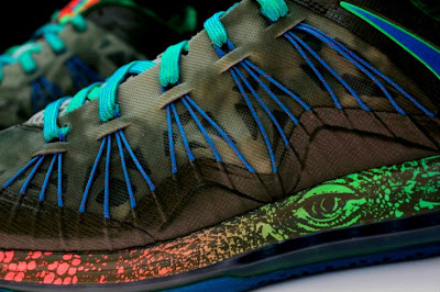nike lebron 10 low gr black turquoise blue 2 03 Additional Look at Nike LeBron X Low Tarp Green