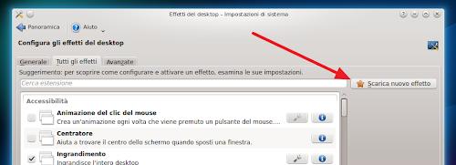 KDE 4.10 scarica nuovi effetti