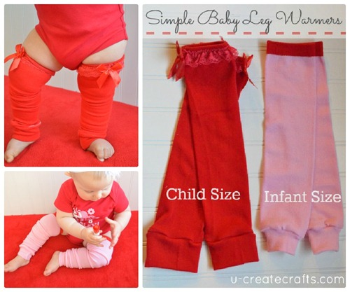 Simple Baby Leg Warmers at u-createcrafts.com