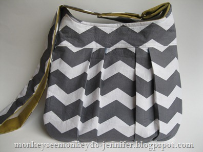 gray and yellow chevron pleated bag (13)