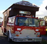 Mack Fire truck housetruck conversion. Reckon the loft could have come forward a few more feet too