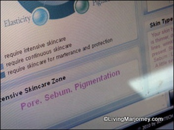 Celeteque DermoScience Skin Analysis Result
