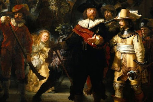 Painting The Nightwatch by Rembrandt