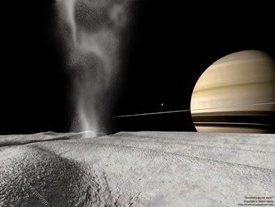Enceladus geyser snow