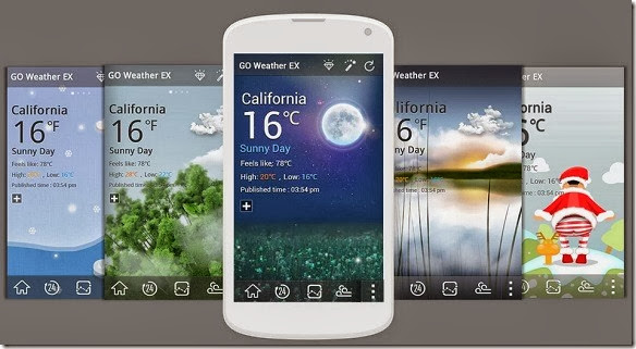 go weather ex apk interface