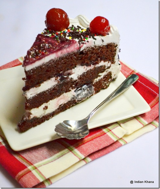 BFC Black forest cake recipe blog indian chocolate cake