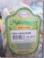mlgs malunggay fish crackers, 240baon