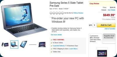 Samsung Series 5 Slate Tablet
