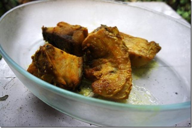 Shallow fried caatla