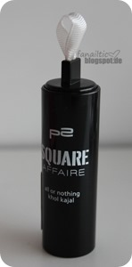 """p2 """"square affaire"""" all or nothing khol kajal """"chalky white"""""""