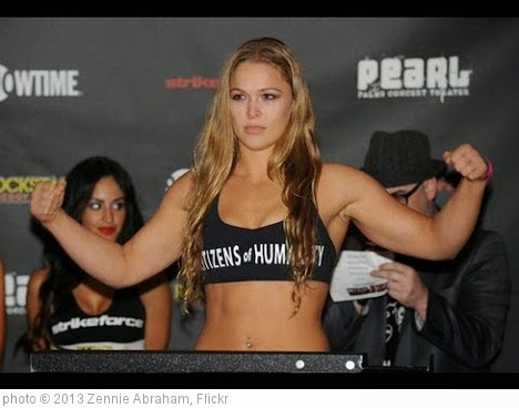 'Ronda Rousey Over Misha Tate Says Vegas Line' photo (c) 2013, Zennie Abraham - license: https://creativecommons.org/licenses/by-nd/2.0/