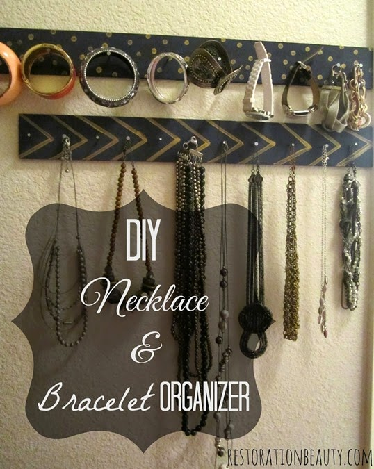 diy necklace and bracelet organizer 1