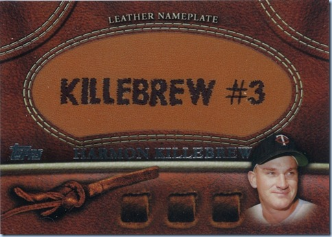 2011 Topps S2 Killebrew Nameplate