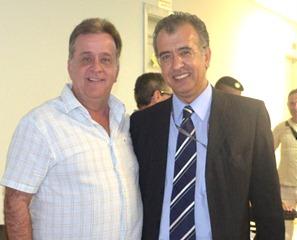 Prefeito Jorge Costa com presidente da EMTU, Joaquim Lopes