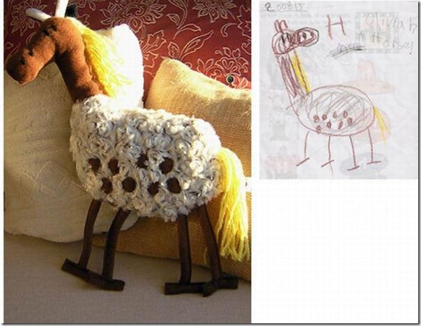 Brinquedos de pelúcia feitos a partir de desenhos de crianças (10)