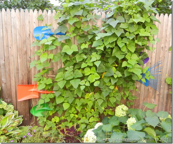 Sustainable Recycled Shovel Trellis