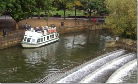 trip boat above pulteney weir