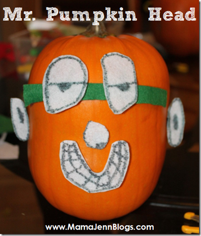 Mr. and Mrs. Pumpkin Head (Potato Head variation)