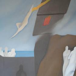 Rodolfo Opazo (chileno)-Danza en el cielo-100 x 90 cm-1993