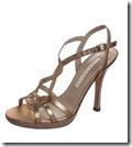 Pura Lopez Gold Sandal