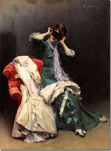 Raimundo Madrazo - Preparing for the Costume Ball