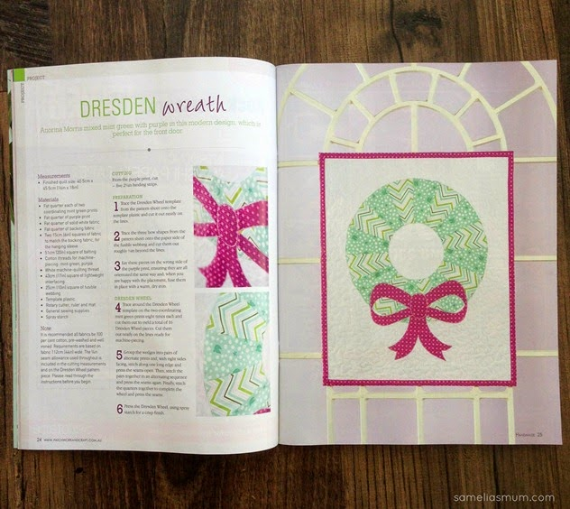 Contemporary Christmas Wreath - magazine