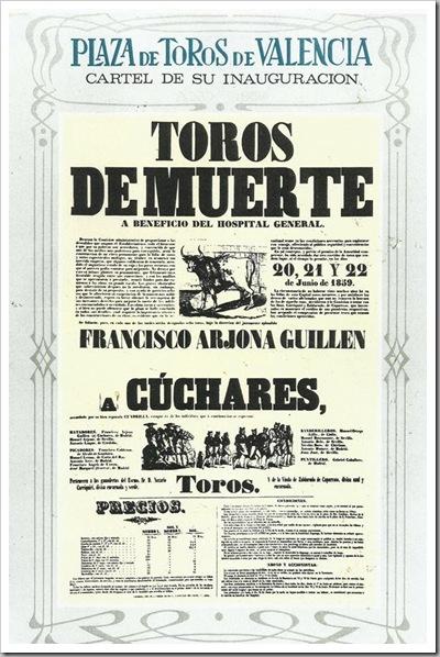 cartel primera corrida de toros