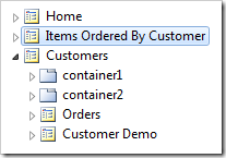 The 'Items Ordered by Customer' page is now second in the app menu.