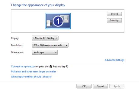 ตั้งค่า windows 7ออกจอ