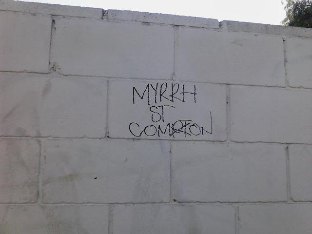 Compton Crip Graffiti Myrrh Street Compton Crip
