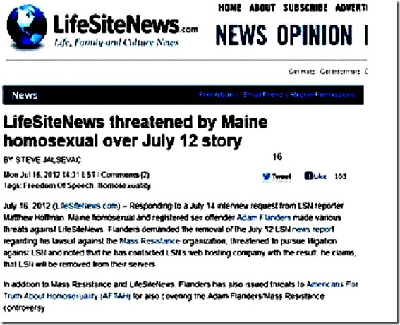 LifeSiteNews Screen Capture in Case Removed