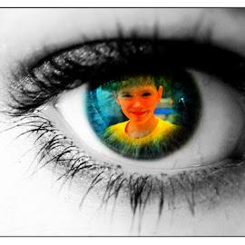 The Apple of my Eye by Linda Blevins - Digital Art People ( child, digital, eye )