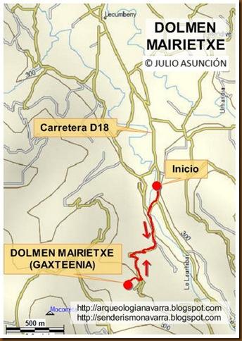 Mapa dolmen Mairietxe