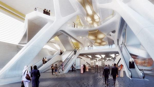 Estación de metro arquitectura high tech