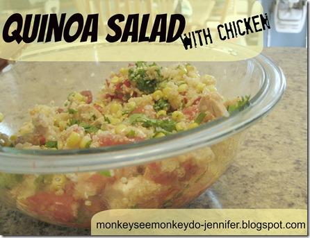 Quiona salad with chicken