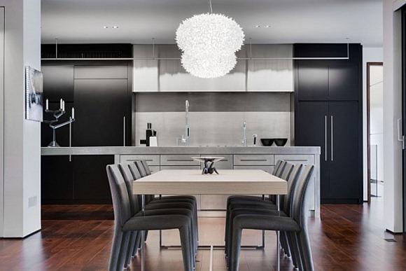 residencia moderna en colores grises