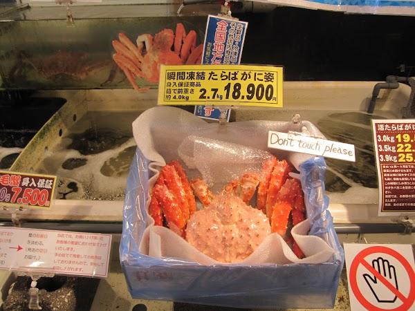 Mancare Japonia: crabi spinosi.JPG