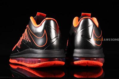 nike lebron 10 low gr black orange 2 03 Nike Air Max LeBron X Low Black / Orange (579765 001)