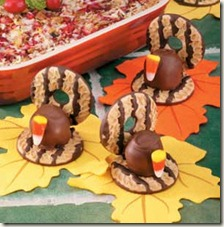 Fudge Stripe Cookie Turkeys