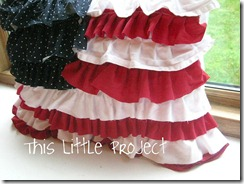 ruffle flag pillow
