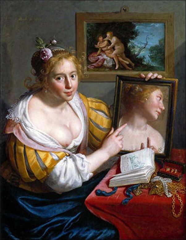 Moreelse, Jeune fille au miroir 1627