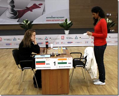 Stefanova vs Harika, Round 5, Game 2, Semi-Finals, World Women's Chess Championship 2012
