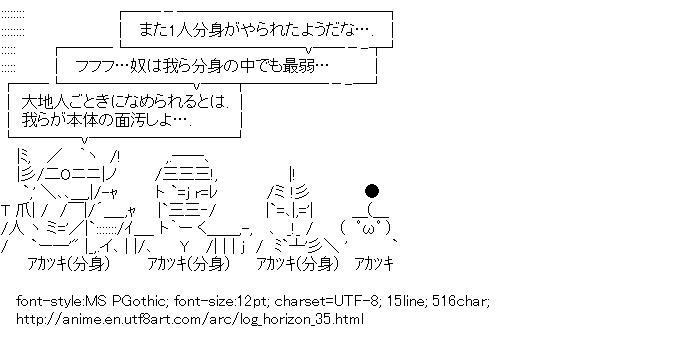 Log Horizon,Akatsuki,Four heavenly kings