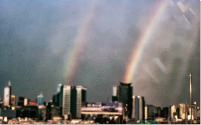 deblurred rainbows over melbourne