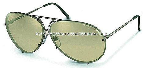 Porsche Design 40Y Limited edition P&#8217;8478 eyewear aviator sunglasses.ultra-light titanium David Beckham, Brad Pitt, Jennifer Lopez, Kim Kardashian Boris Becker matt silver-grey brown silver-mirrored progressive tint lenses P'8494 Y