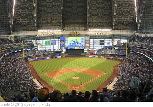 'Miller Park, home of Milwaukee Brewers' photo (c) 2013, daveynin - license: https://creativecommons.org/licenses/by/2.0/