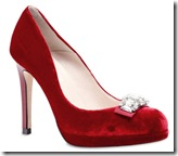 Red Evening Pumps