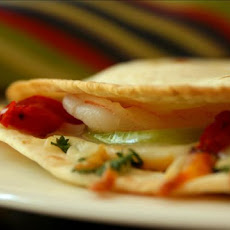 Shrimp and Tomatillo Quesadillas
