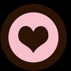 cupcake topper valentines day hjerte rosa brun