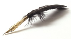 modern feather pen